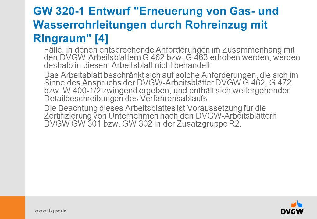 GW 320-1 Entwurf Erneuerung von Gas- und Wasserrohrleitungen durch Rohreinzug mit Ringraum [4]